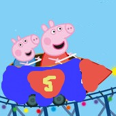 Peppa goes to Six Flags