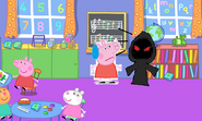 Heinrich disguised on Peppa's playgroup