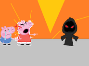 Peppa finally battle Heinrich on the Volcano Village!