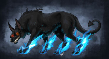 Hellhound by fuzzypinkmonster-d3aicl6