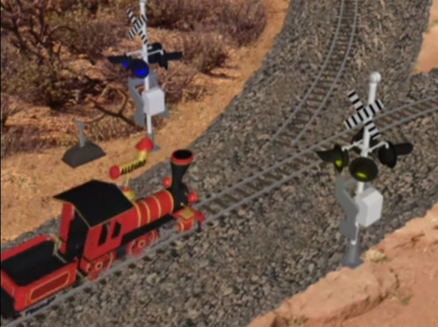 File:Go West Young Train 016, Little Red Train, Railroad Crossing Signals.png
