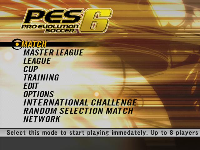 File:PES 6 starting screen.jpg