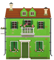 File:Green house with balcony.png