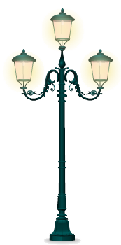 Forged iron street lamp