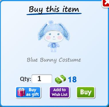 Blue bunny costume
