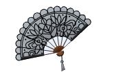 Black Handheld Fan