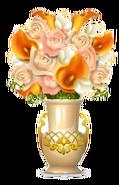 Rococo Vase With Flowers