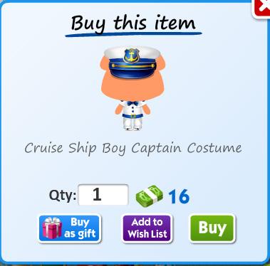 Cruise ship boy captain