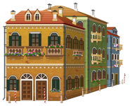 Angled Venetian Building 2