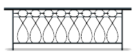 Venetian wrought iron bannister