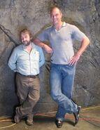 Conan Stevens with Peter Jackson