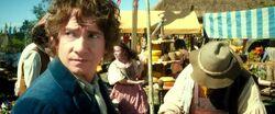 Bilbo at market