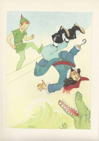 File:Captain Hook, Peter Pan, crocodile, 1950s, by Marjorie Torrey.jpg