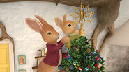 Peter Rabbit's Christmas Tale Episode 1 Peter Holding Cotton-Tail Scene