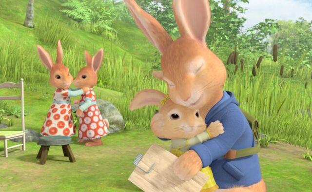 File:Peter-Rabbit-Family-Sisters-Brother-Hugs-Cute-Image.jpg