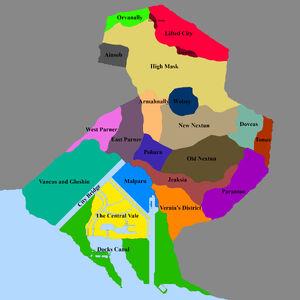 Jesia City Map Boroughs
