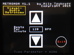 METRONOM control screen - lower
