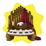 Opera house pipe organ