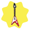 Red pet v guitar