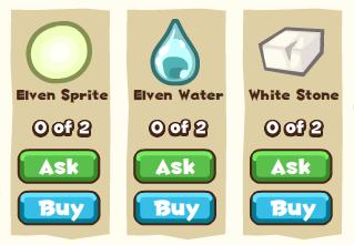 Elven kingdom fountain materials
