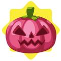 Pink scarecrow pumpkin head