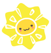 Smiling Sun Wall Sticker