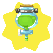 Mad scientist flask aquarium