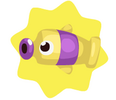 Purple tube fish