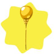 Cute golden balloon