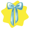 Blue wall ribbon