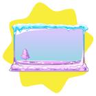 Icy fish tank