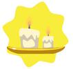 Elegant candle set