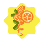 Orange Peel Girl Hairclip