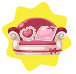 Romantic petling bed