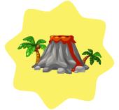 Tropical volcano