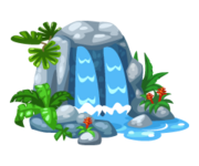 Collaborative-tropical-waterfall