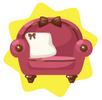 Rosy cute chair