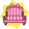 Valentine pink ribbon armchair
