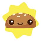 Happy burger bun