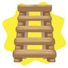 Farm ladder shelf