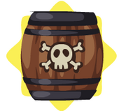 Haunted pirate barrel