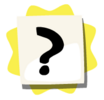 Questionmark sticker