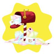 Santa paws mailbox
