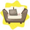 Summer comfortable armchair