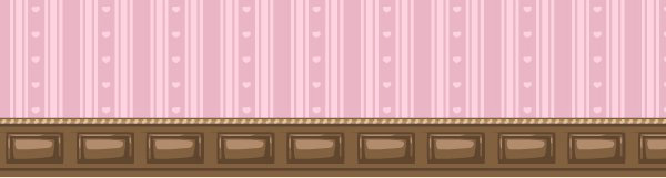 Valentine pink striped wallpaper expanded