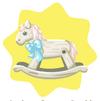 Cream rocking horse