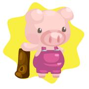 Pink pig plushie