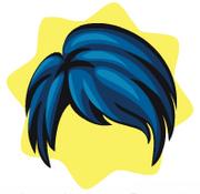 Neon frills girl wig