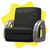 Vintage black armchair