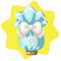 Blue wrapped egg